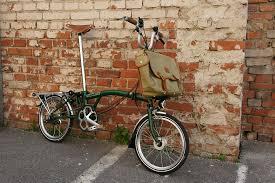 Bicicleta Brompton abierta