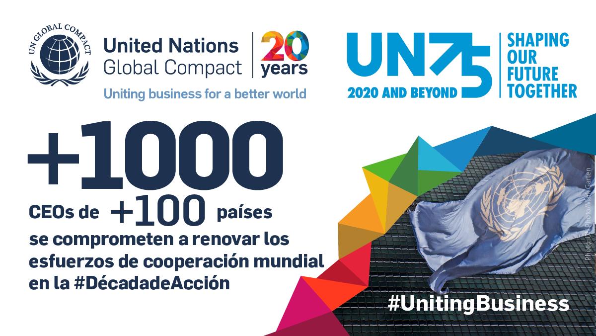 Más de 1000 CEOs de más de 100 países se comprometen a renovar los esfuerzos de cooperación mundial en la década de acción
