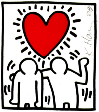 Radiant Heart by Keith Haring