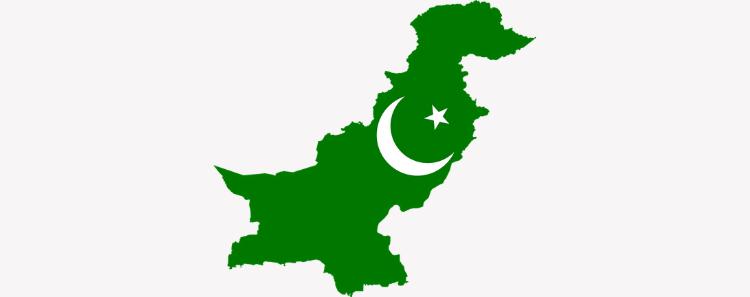 mapa, pakistan, bandera