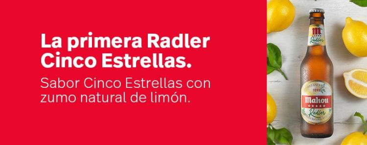 La primera Radler Cinco Estrellas, publicidad mahou, cartelera