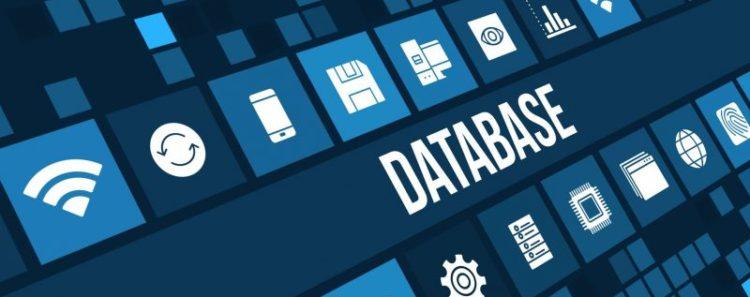 base de datos, iconos, azul