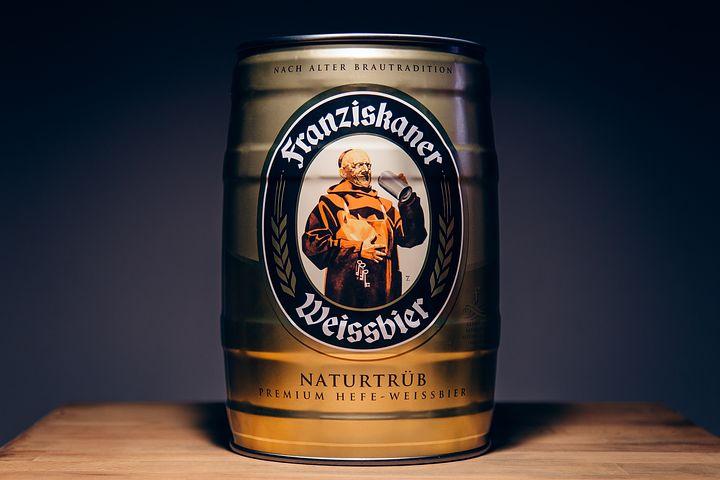 barril, cerveza, franziskaner weissbier