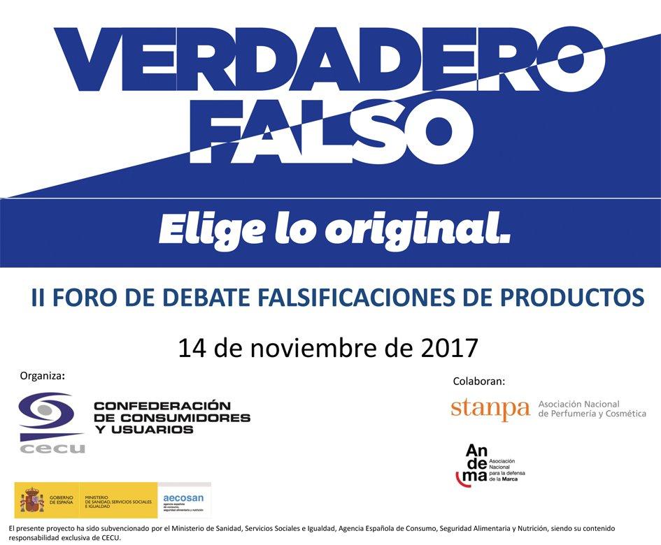 II Foro de debate falsificaciones de productos (Confederación de Consumidores y Usuarios), Madrid