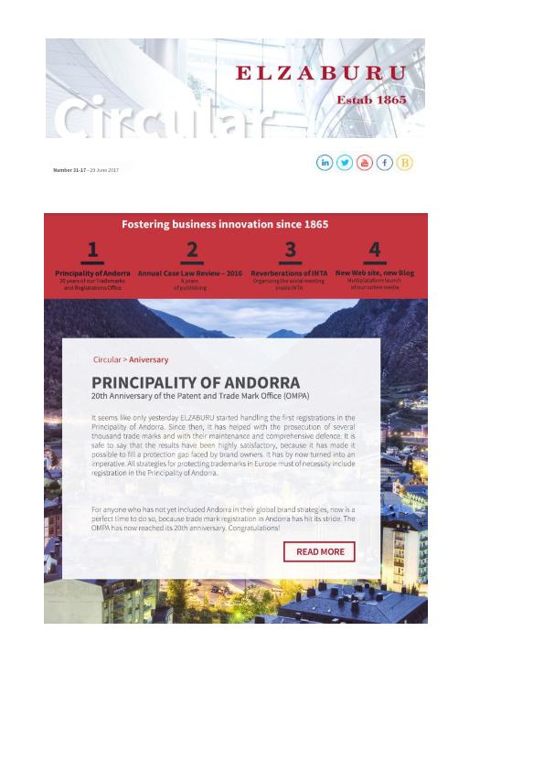 Circular 31-17: Principality of Andorra; Elzaburu