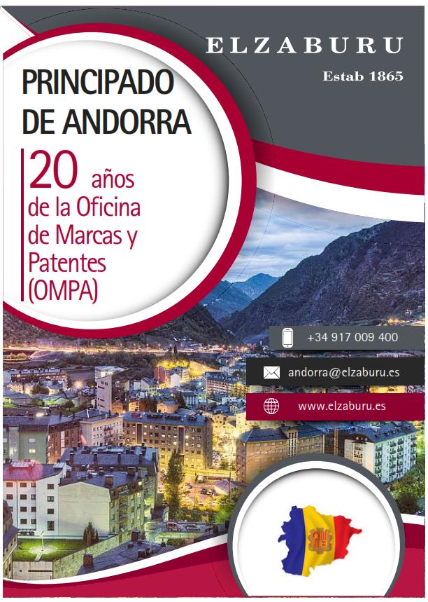 Folleto Principado de Andorra: 20 años de la Oficina de Marcas y Patentes (OMPA)