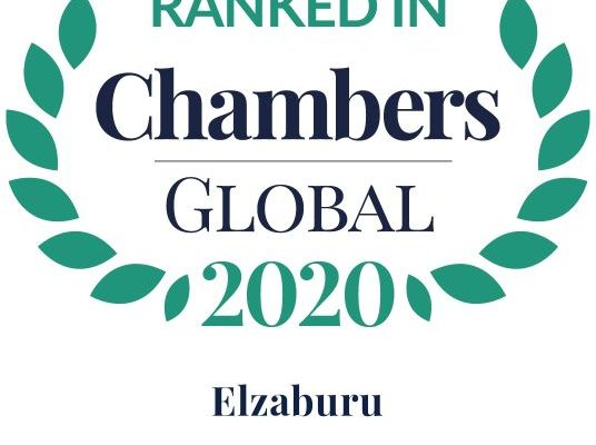 Chambers Top Ranked Global 2020