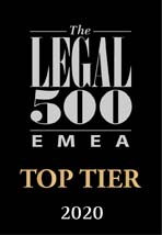 Legal 500 Top Tier Firms 2020