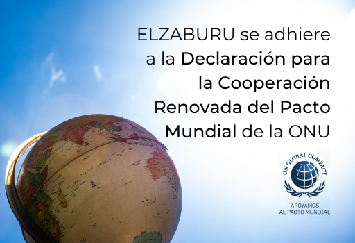 elzaburu se adhiere a la declaracion para la cooperacion renovada del pacto mundial de la onu