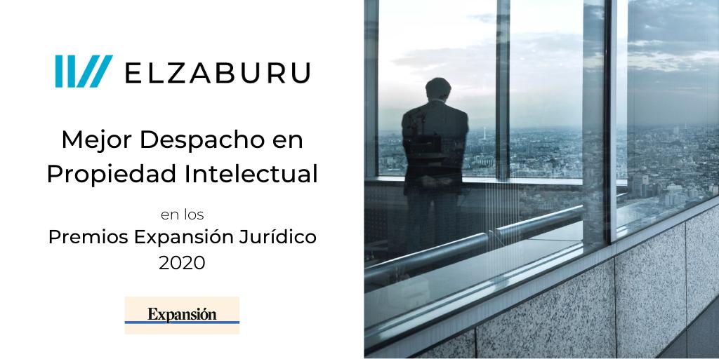 ELZABURU: Mejor despacho en PI en los Premios Expansión Jurídico 2020