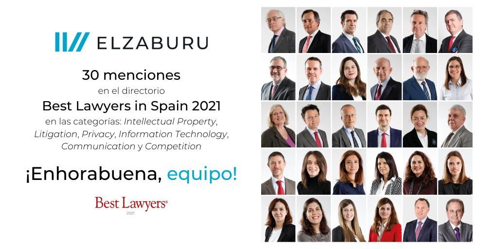 30 menciones de ELZABURU en directorio Best Lawyers 2021