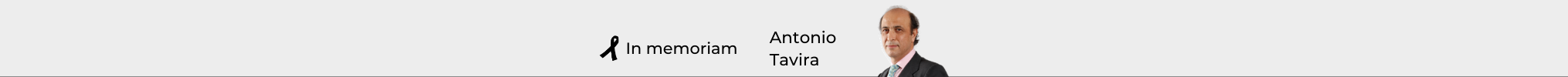 In memoriam Antonio Tavira