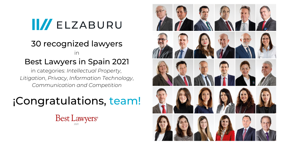 30 recognized lawyers in Best Lawyers in Spain 2020 - ELZABURU