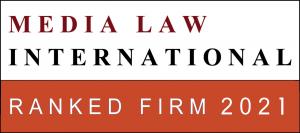 Media Law International Ranked Firm 2021