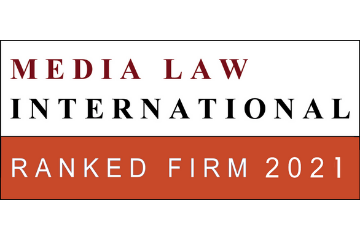 Media Law International. Ranked Firm 2021