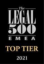 legal 500, emea, top tier, 2021